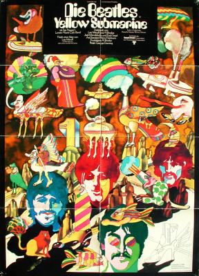 Heinz Edelmann. Poster for Yellow Submarine