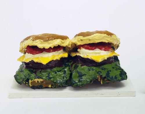 Klas Oldenburg. Two cheeseburgers
