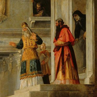 Тициан Вечеллио. Введение Марии во храм. Фрагмент 6