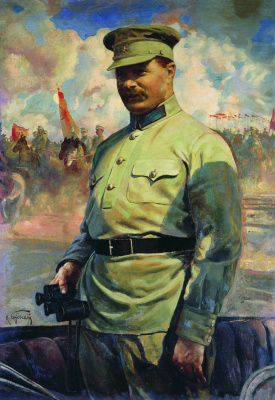 Исаак Израилевич Бродский. М. В. Фрунзе на маневрах. 1929