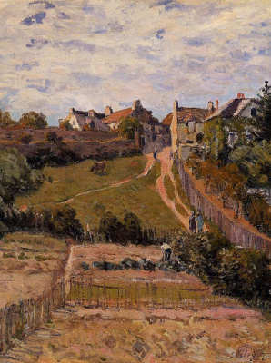 Alfred Sisley. The rising path