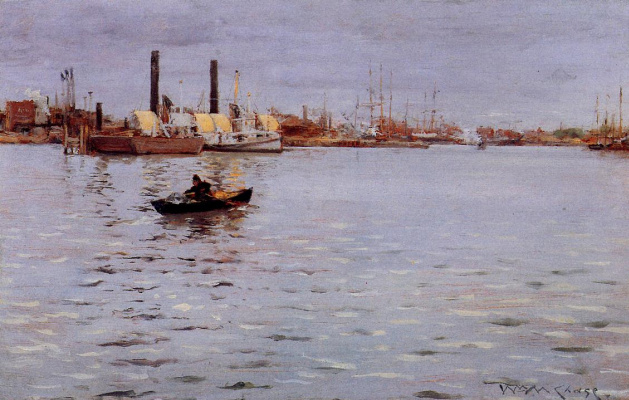 William Merritt Chase. East River