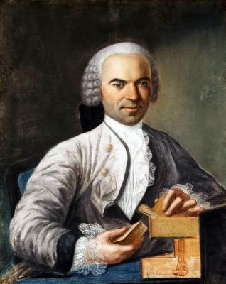Франсуа де Сомсуа. Портрет неизвестного в светло-сером кафтане