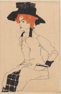 Эгон Шиле. Женский портрет