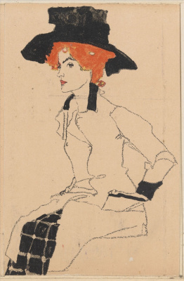 Egon Schiele. Female portrait