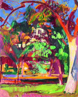 Cuno Amiè. The trees in the garden, Oswald