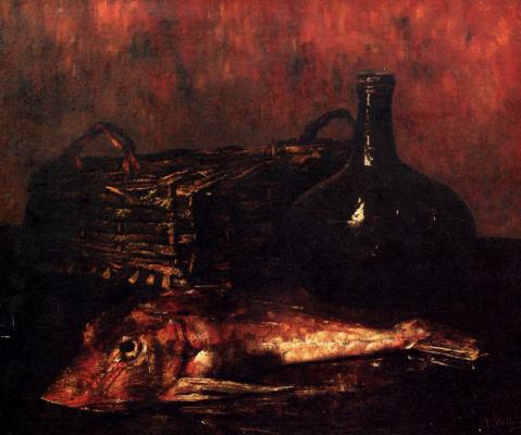 Антуан Воллон. Натюрморт с рыбой