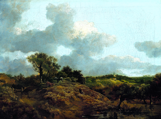 Thomas Gainsborough. Landscape with sitting on the slope of the shepherd