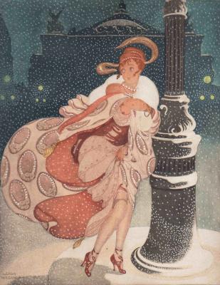 Gerda Wegener. Opera Theater under the snow