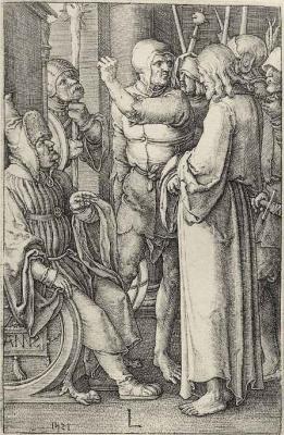 Лукас ван Лейден (Лука Лейденский). Христос перед первосвященником