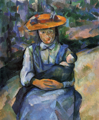 Paul Cezanne. Girl with a doll