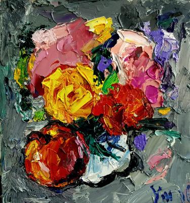 Yuri Leonardovich Uzhdavini. Apple and flowers