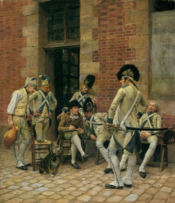 Jean Louis Ernest Meissonier. Portrait of sergeant