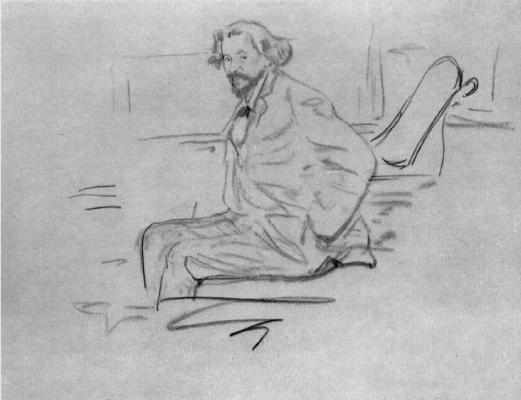 Filipp Andreevich Malyavin. Portrait Of I. E. Repin. Sketch.