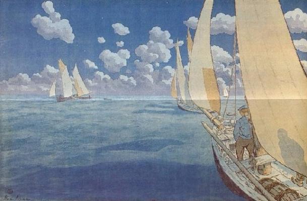 Анри (Henri) Ривьер (Rivière). Ночное море (Nuit en mer)