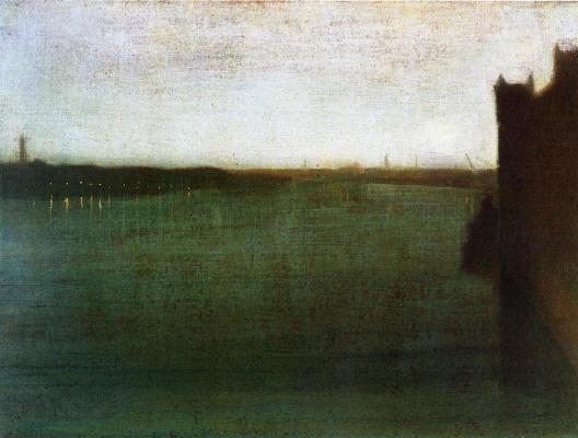 James Abbot McNeill Whistler. Gray-Golden Nocturne. Westminster bridge