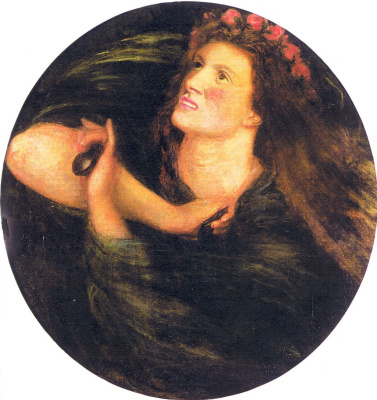 Dante Gabriel Rossetti. Castanets: dancing girl (Daughter of Herodias)