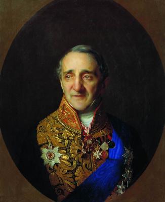 Sergey Konstantinovich Zaryanka. Portrait of a chamberlain, state councilor Christopher Ekimovich (Ioakimovich) Lazarev