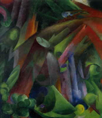 Franz Marc. Birds in the forest