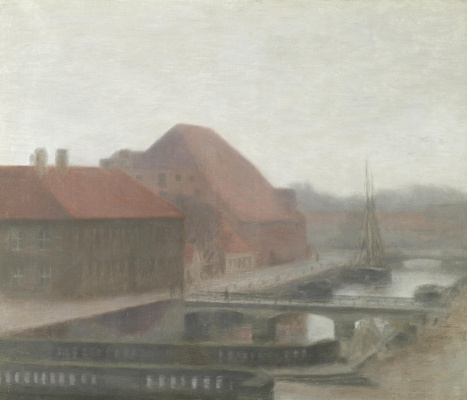Vilhelm Hammershøi. View of the canal Frederiksholm, Copenhagen