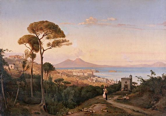 Alexey Petrovich Bogolyubov. View of Naples. Italy