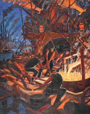 Benito Quinquela Martín. The fire