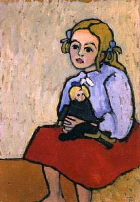 Gabriele Münter. Girl with a doll