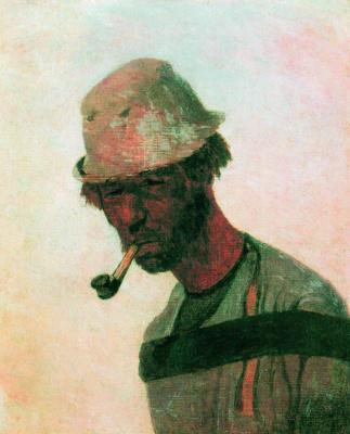 Ilya Efimovich Repin. Burlak. Etude