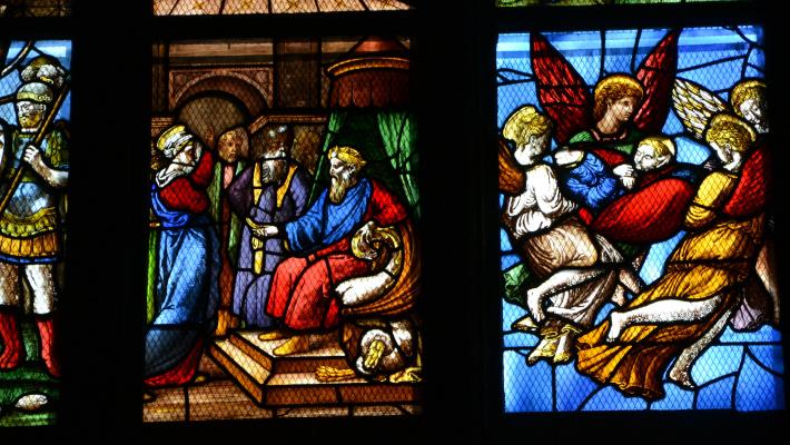 Giuseppe Arcimboldo. Scenes from the life of St. Catherine. Fragment