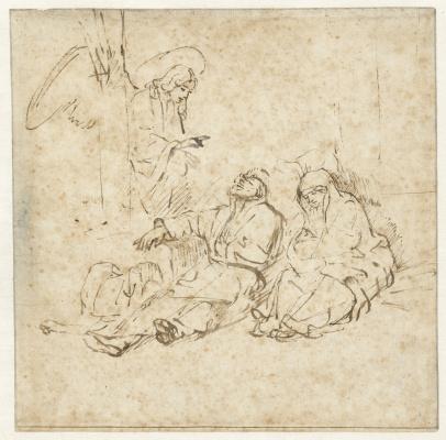 Рембрандт Харменс ван Рейн. Ангел является Иосифу во сне