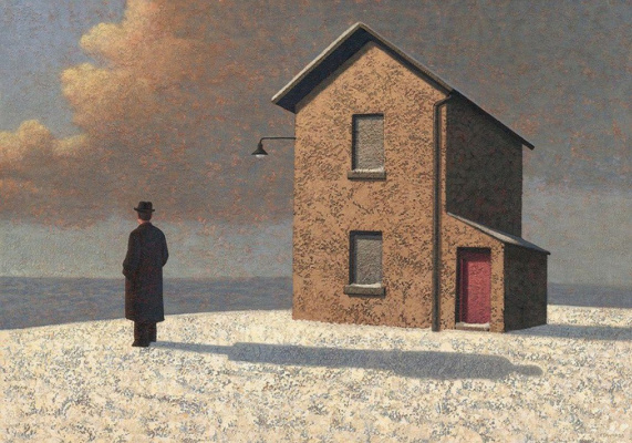 Марк Эдвардс. Man and house with red door.