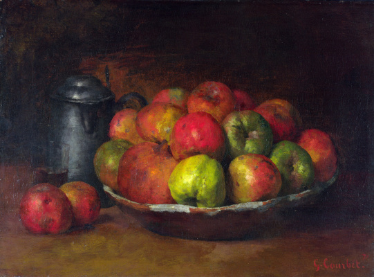Gustave Courbet. Still life with apples and pomegranates