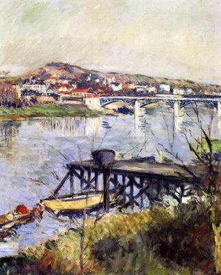 Gustave Caillebotte. The bridge at Argenteuil