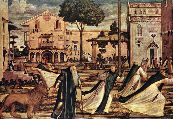 Vittore Carpaccio. SV. Jerome and the lion