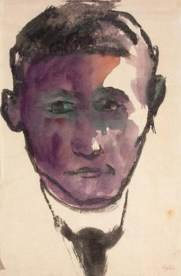 Эмиль Нольде. Мужской портрет