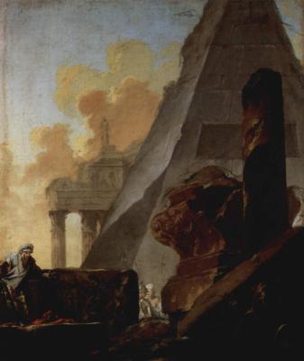 Руины и пирамида