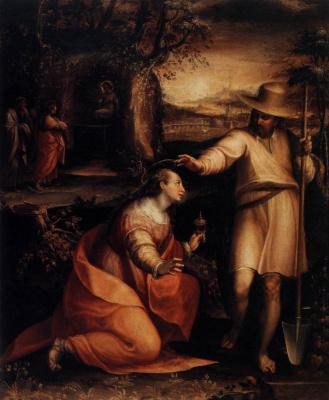 Лавиния Фонтана. Иисус и Мария Магдалина