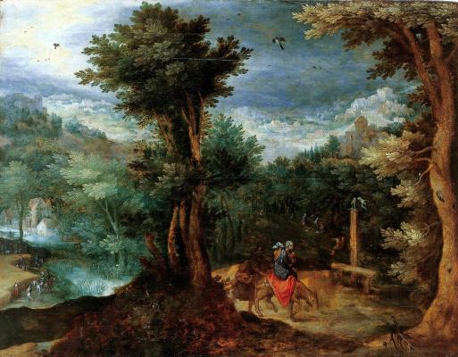 Jan Bruegel The Elder. Flight to Egypt.