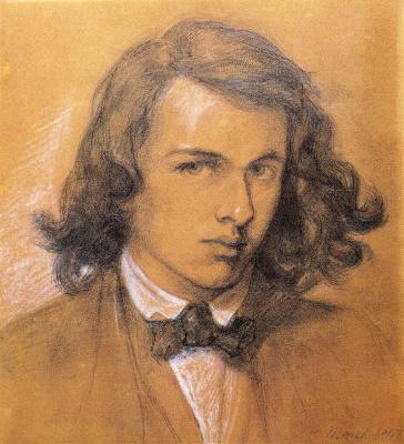 Dante Gabriel Rossetti. Self-portrait
