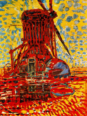 Piet Mondrian. Windmill in sunlight