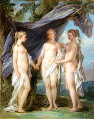 Charles Andre van Loo. The three graces