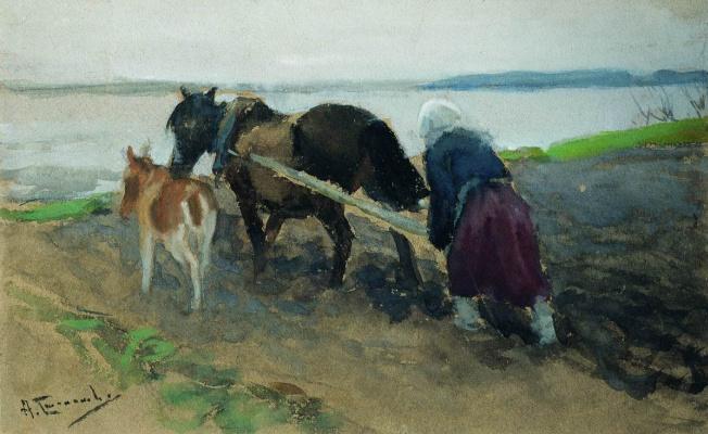 Alexey Stepanovich Stepanov. Plowing