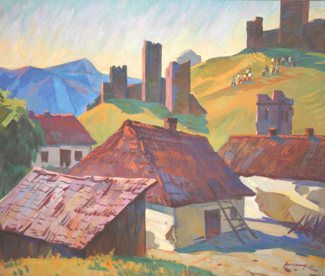 Alexey Mikhailovich Artamonov. The houses under the mountain