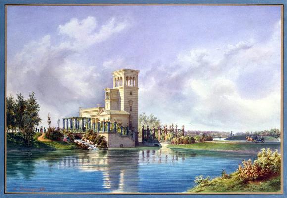 Луиджи Премацци. Розовый павильон в Луговом парке Петергофа