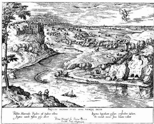 Pieter Bruegel The Elder. Landscape with abduction of psyche by mercury