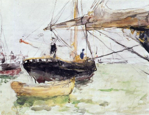 Berthe Morisot. On Board the yacht