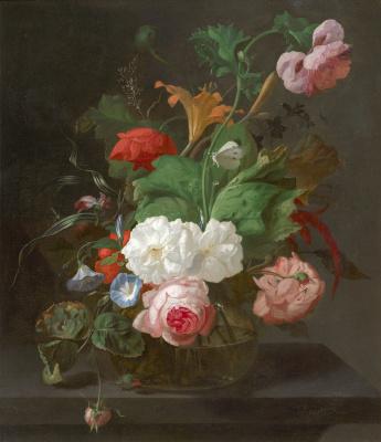 Рашель Рюйш. Летние цветы в вазе