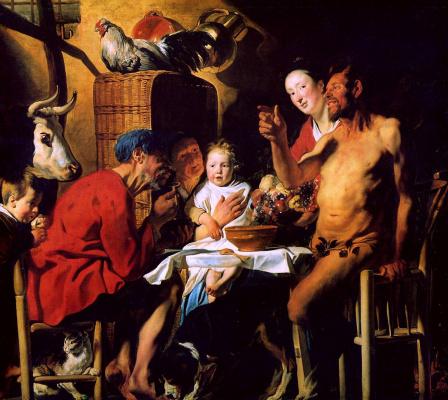 Якоб Йорданс. Крестьянская семья