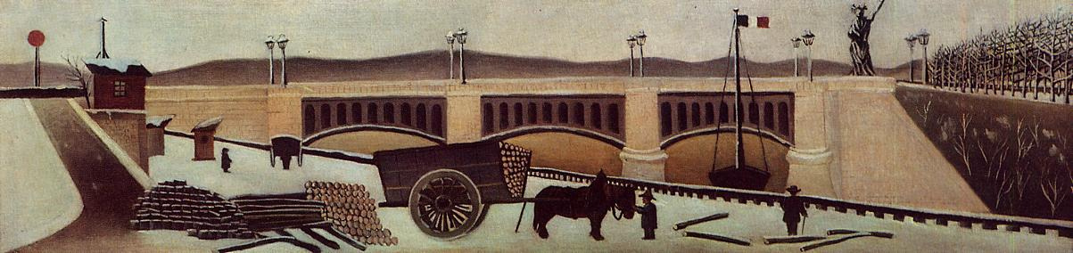 Henri Rousseau. The wagon near the Pont de Grenelle