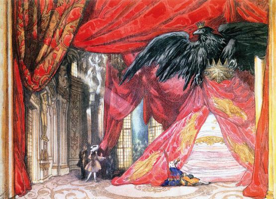 "Lev Samoilovich Bakst (Leon Bakst). Sketch of the scenery for the ballet ""Sleeping Beauty"""
